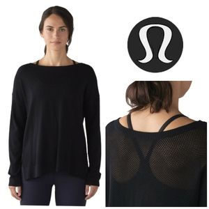 LULULEMON Well Being Sweater Black Cashmere Blend